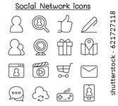 social media   social network... | Shutterstock .eps vector #621727118