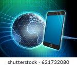 smartphone over an high... | Shutterstock . vector #621732080