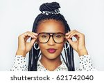 portrait of fashionable young... | Shutterstock . vector #621742040