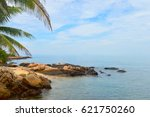 beach and stone on island | Shutterstock . vector #621750260