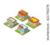 market 3d icon building design... | Shutterstock .eps vector #621750278