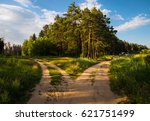 at the crossroads. fork. two... | Shutterstock . vector #621751499