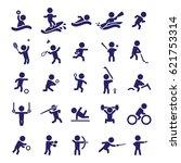 sports icon set. vector | Shutterstock .eps vector #621753314