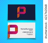 business card design template...   Shutterstock .eps vector #621762068