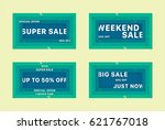 colorful sale background.... | Shutterstock .eps vector #621767018