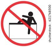 do not climbing. not allowed... | Shutterstock .eps vector #621768500