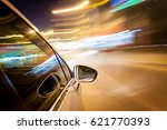 night drive blussed in motion | Shutterstock . vector #621770393