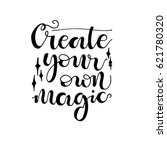 magic phrase create your own... | Shutterstock .eps vector #621780320