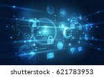 vector digital technology... | Shutterstock .eps vector #621783953