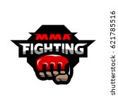 mma fighting. mixed martial... | Shutterstock .eps vector #621785516