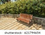 view of green garden with grass ... | Shutterstock . vector #621794654