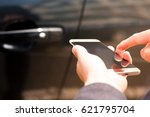 opening and closing car door... | Shutterstock . vector #621795704