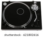 dj turntable vinyl record... | Shutterstock . vector #621802616