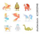 mythological and fairy... | Shutterstock .eps vector #621803948