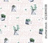 cactus seamless pattern   Shutterstock . vector #621804038