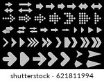 set of silhouettes arrows. | Shutterstock .eps vector #621811994