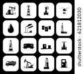 oil and petroleum icon set. | Shutterstock .eps vector #621812030