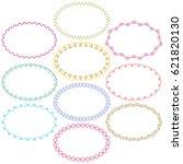 decorative oval frames   Shutterstock .eps vector #621820130