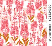 seamless pattern with flowering ... | Shutterstock .eps vector #621824330