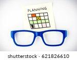 planning calendar illustration... | Shutterstock . vector #621826610