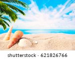 summer holidays background ... | Shutterstock . vector #621826766
