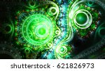 live microorganisms under... | Shutterstock . vector #621826973