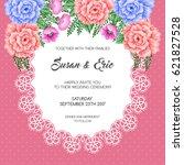 wedding invitation template... | Shutterstock .eps vector #621827528