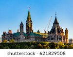 Small photo of The National Library of Canada and Peace Tower at Parliament Building in Ottawa, Ontario