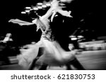 blurred couple dancers... | Shutterstock . vector #621830753