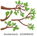 different design of branches... | Shutterstock .eps vector #621840620