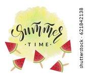lettering with phrase summer... | Shutterstock .eps vector #621842138