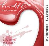 red nail polish drops sample ...   Shutterstock .eps vector #621845918