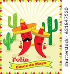 poster for cinco de mayo... | Shutterstock .eps vector #621847520
