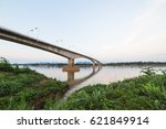 cloud and sky with long bridge. | Shutterstock . vector #621849914