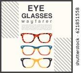 eyeglasses frame type  ... | Shutterstock .eps vector #621851558