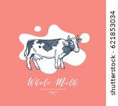 milk design template. cow... | Shutterstock .eps vector #621853034
