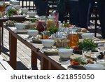dinner  | Shutterstock . vector #621855050