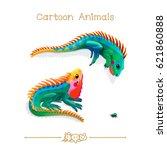 vector illustration collection... | Shutterstock .eps vector #621860888