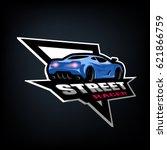 street racer  symbol  emblem. | Shutterstock .eps vector #621866759