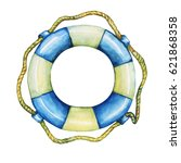 illustration of old lifebuoy... | Shutterstock . vector #621868358