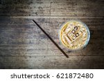 ice coffee in plastic glass....   Shutterstock . vector #621872480
