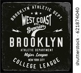 vintage varsity graphics and... | Shutterstock .eps vector #621874040