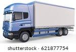 3d rendering of isolated truck... | Shutterstock . vector #621877754