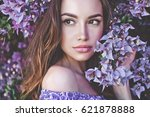 outdoor fashion photo of... | Shutterstock . vector #621878888