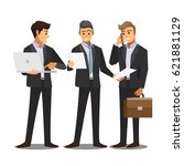 business and office concept ... | Shutterstock .eps vector #621881129