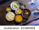 horse meat stew set   close up   Shutterstock . vector #621883868