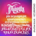 phoenix   modern gothic style... | Shutterstock .eps vector #621884060