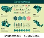 infographics elements set with... | Shutterstock .eps vector #621893258