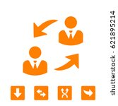 online collaboration icon | Shutterstock .eps vector #621895214
