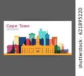 cape town colorful architecture ... | Shutterstock .eps vector #621895220